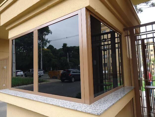 Guarita Vidro Blindado Arquitetônico