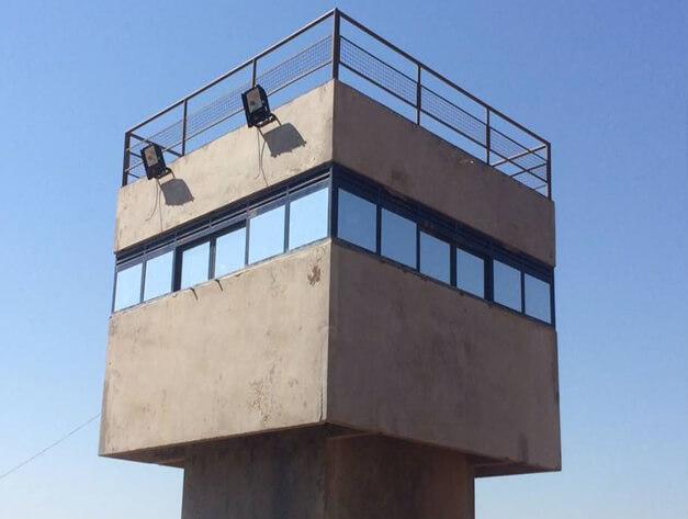 torre-de-vigilancia Vidro Blindado Arquitetônico